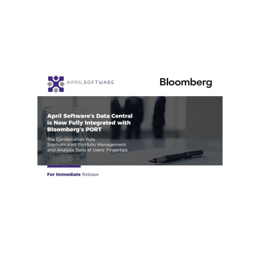 Press Release: Data Central Now Fully Integrated with Bloomberg's PORT