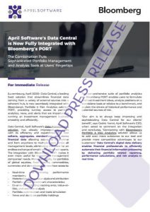 Download Official Press Release_Data Central Integrated with Bloomberg's PORT